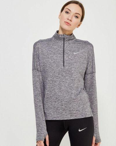 Серый спортивный лонгслив Nike