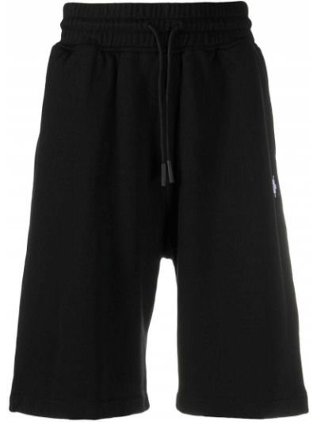 Bawełna bawełna czarny szorty z kieszeniami Marcelo Burlon County Of Milan