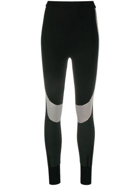 Z wysokim stanem czarny legginsy z wiskozy Mcm