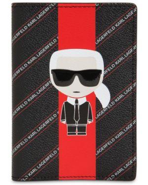 Кожаный кошелек спортивный с логотипом Karl Lagerfeld