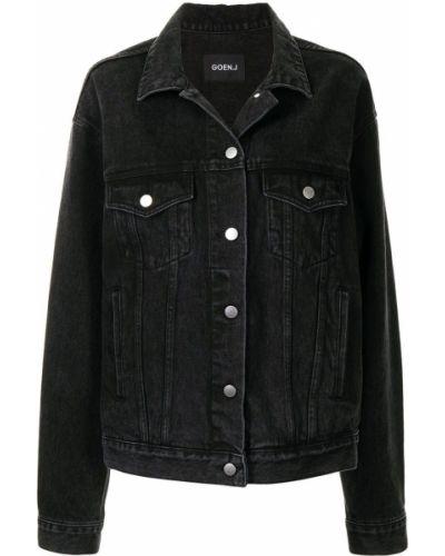 Джинсовая куртка оверсайз - черная Goen.j