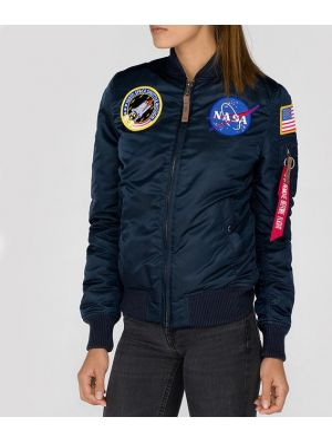 Синяя куртка MA-1 Alpha Industries