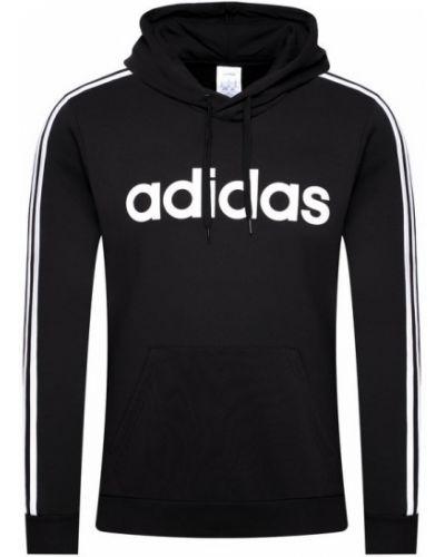 Czarny bluzka w paski z paskami Adidas
