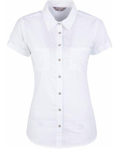 Biała koszula krótki rękaw Mountain Warehouse