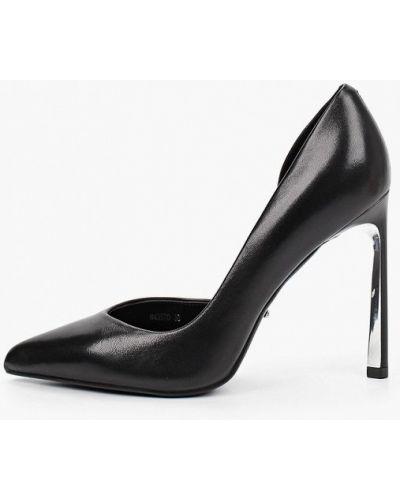 Черные кожаные туфли Vitacci