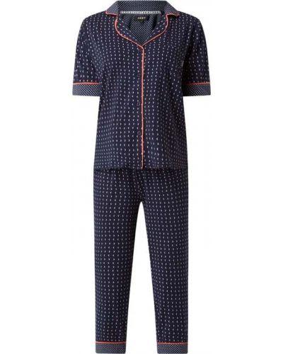 Niebieska spodni piżama bawełniana krótki rękaw Dkny