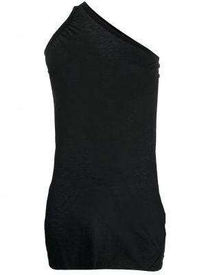 Czarna długa kamizelka bez rękawów bawełniana Rick Owens