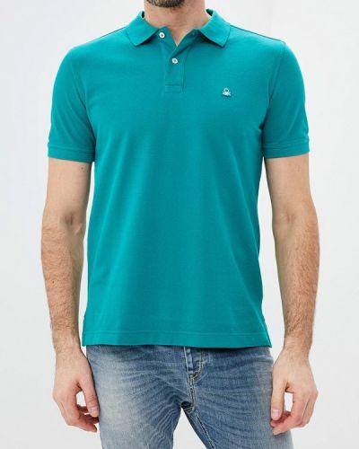 Зеленое поло с коротким рукавом United Colors Of Benetton