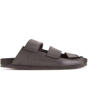 Черные кожаные сандалии Peter Non