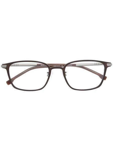 Прямые серебряные очки для зрения квадратные Boss Hugo Boss