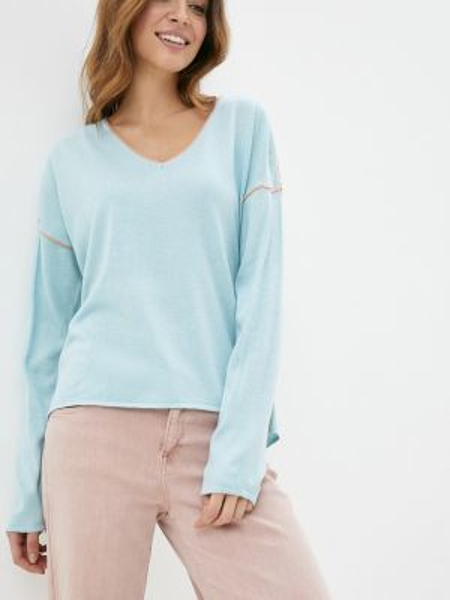 Пуловер - голубой Sela