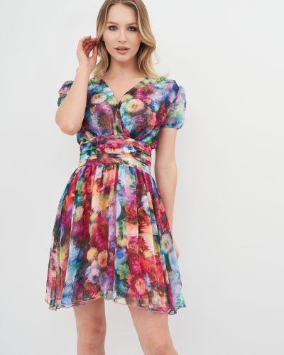 Шифоновое платье мини - сиреневое Niktan