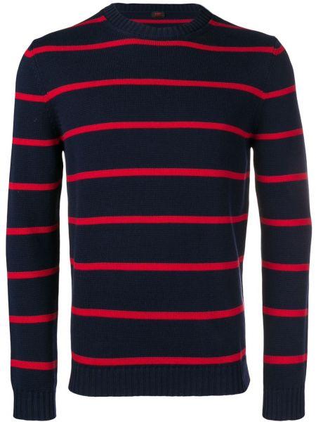 Niebieski sweter w paski bawełniany Mp Massimo Piombo