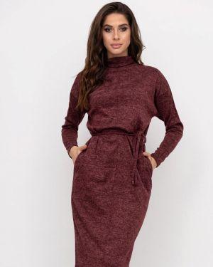 Повседневное платье осеннее красный Magnet