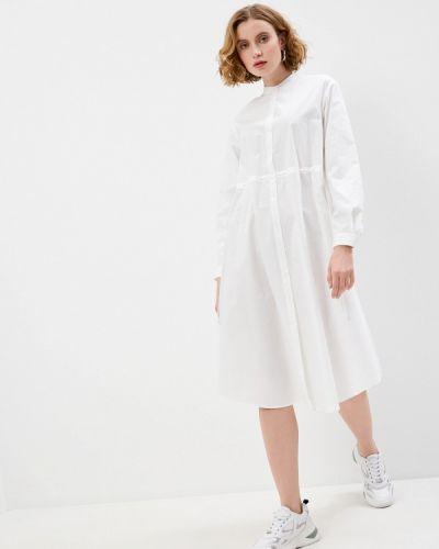 Белое платье-рубашка Max&co