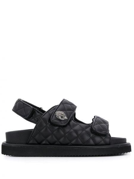 Кожаные черные сандалии с декоративной отделкой с открытым носком Kurt Geiger London