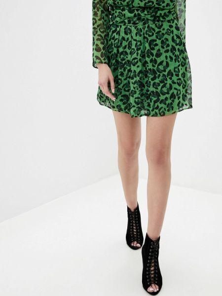 Платье осеннее зеленый Adl