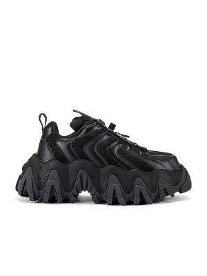 Кожаные кроссовки - черные Eytys