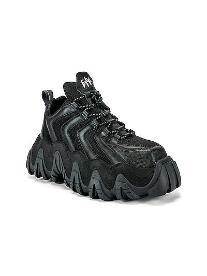 Czarne sneakersy na platformie skorzane Eytys