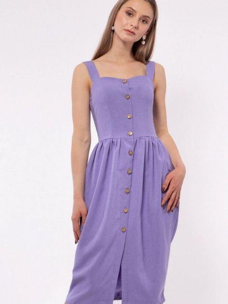 Платье прямое фиолетовый Vladi Collection