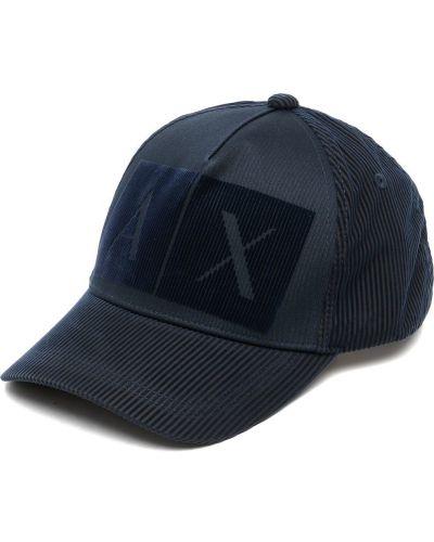 Синяя бейсбольная бейсболка Armani Exchange