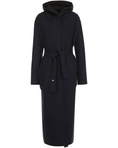 Пальто с капюшоном длинное с поясом Loro Piana