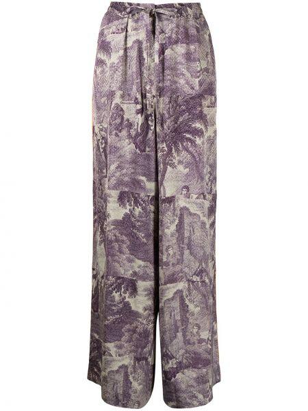 Свободные фиолетовые прямые брюки Pierre-louis Mascia