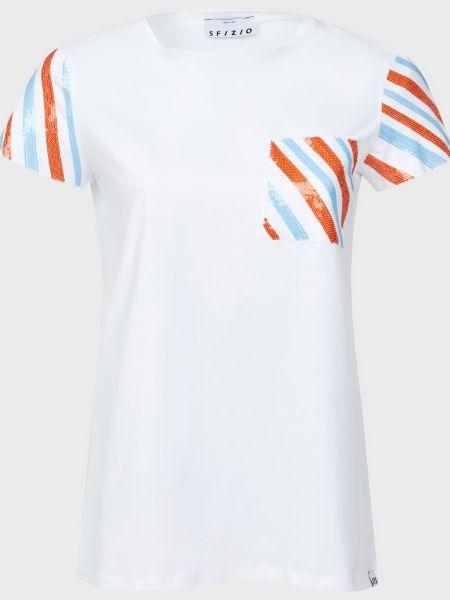 Хлопковая футболка - белая Sfizio