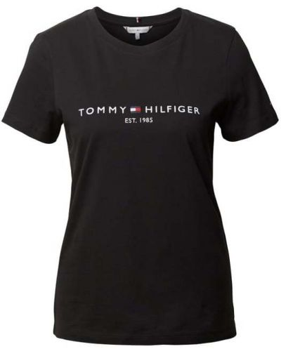 Czarny t-shirt bawełniany Tommy Hilfiger