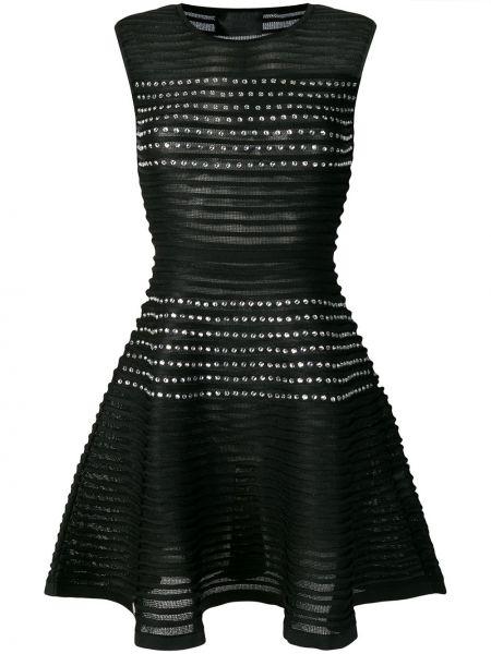 Черное платье с вырезом без рукавов Philipp Plein