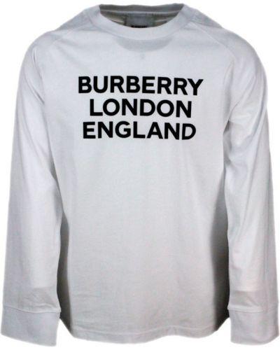 Biały t-shirt bawełniany Burberry