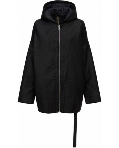 Куртка с капюшоном - черная Rick Owens