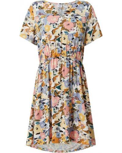 Sukienka rozkloszowana krótki rękaw - biała Saint Tropez