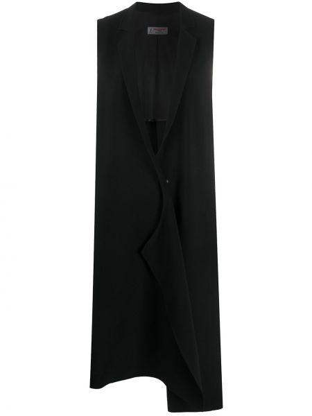 Черный пиджак с лацканами с длинными рукавами Alberto Biani
