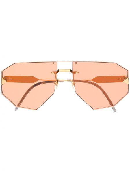 Pomarańczowe złote okulary So.ya