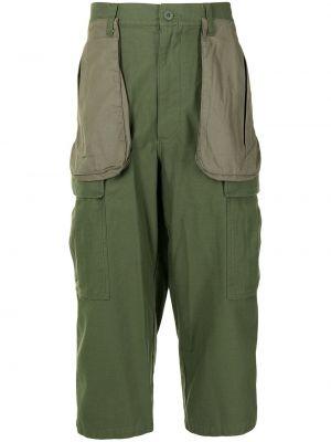 Zielone spodnie khaki z paskiem bawełniane Facetasm