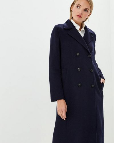 Синее пальто с капюшоном Hugo Hugo Boss