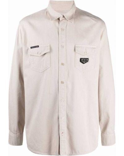 Beżowa koszula bawełniana Philipp Plein