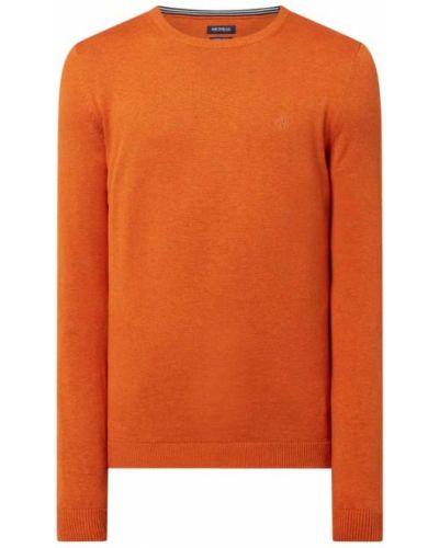 Prążkowany pomarańczowy sweter bawełniany Mcneal