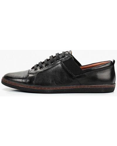 Низкие кеды черные кожаный Artio Nardini