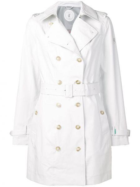 Белый пальто классическое с воротником Save The Duck