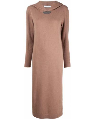 Бежевое шелковое платье Fabiana Filippi