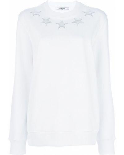 Белая толстовка длинная Givenchy
