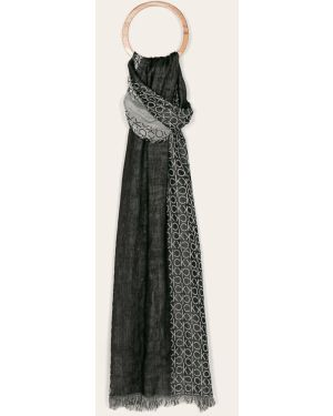 Szalik z wzorem czarny Calvin Klein