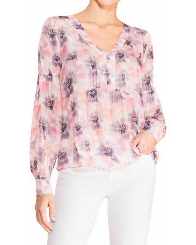 Шелковая блузка с V-образным вырезом с манжетами Parker