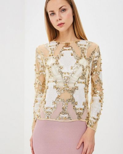 Блузка золотого цвета Paccio