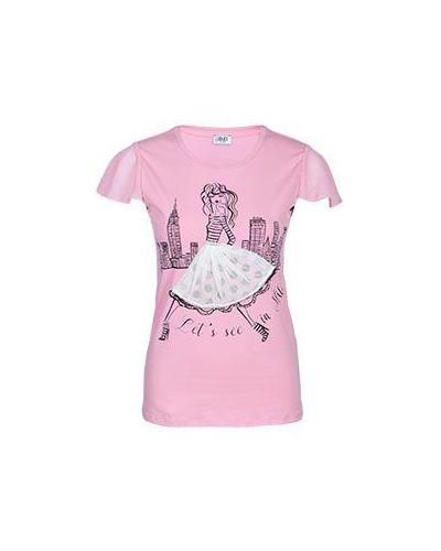 Розовая футболка Liu Jo