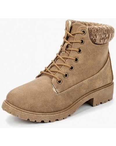 Ботинки на каблуке осенние коричневые Topway