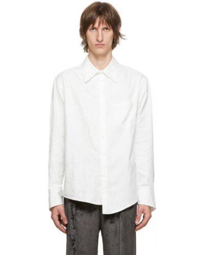 Koszula oxford bawełniana z haftem z długimi rękawami Sulvam