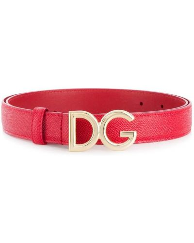 Красный ремень кожаный Dolce & Gabbana